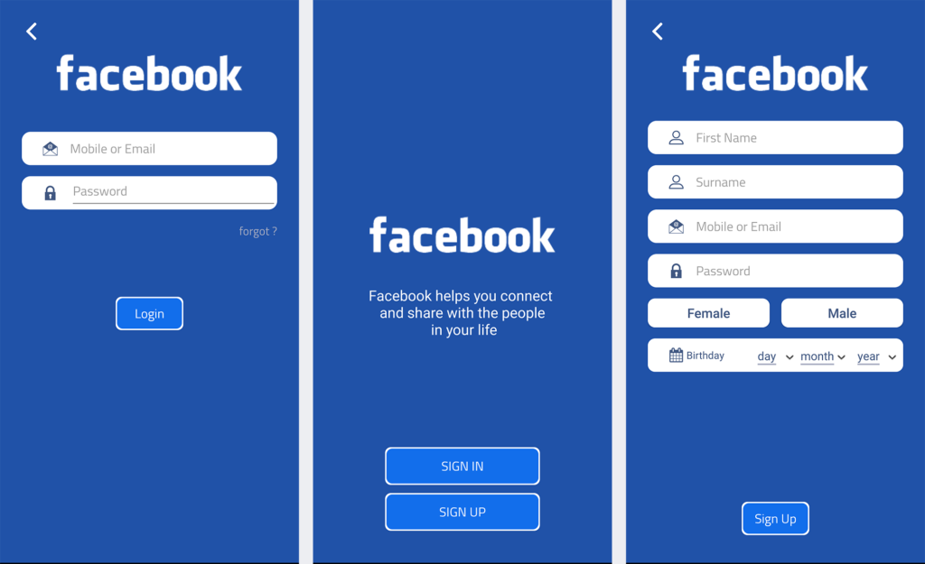Facebook Sign In and Sign Up for Android – Material UiUx